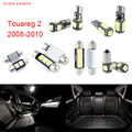18 unids led canbus luces interiores kit package para volkswagen vw touareg 2 (2008-2010)