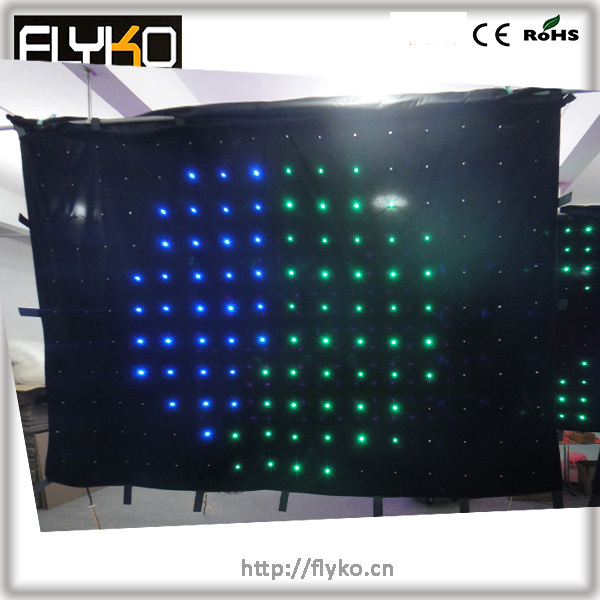 Pixels 176 software free video display screen new product rgb full color led curtain light