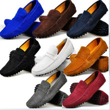 9 Colors US Size 5-11 Real Cow Leather Men Driving Moccasin Loafer Shoes
