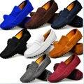 9 Cores EUA Tamanho 5-11 Real Vaca de Couro Dos Homens de Condução Mocassim Loafer Shoes