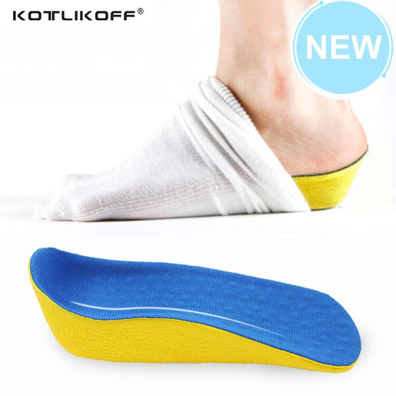 Altura aumento elevador zapatos plantilla 2,0 cm elevador más alto en calcetín soporte arco PU almohadillas elevador para mujeres y hombres zapatos cuidado de los pies
