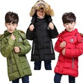 Happy New Year coat  2017 White Duck Down Jackets For boys&girls Winter Coat Fashion Korean Style fur Hooded Zipper Outerwear