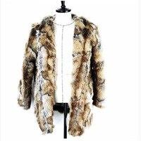 S 6XL New Fashion Imitation Mink Fur Overcoat Men Clothing Plus Size Male Winter Coat