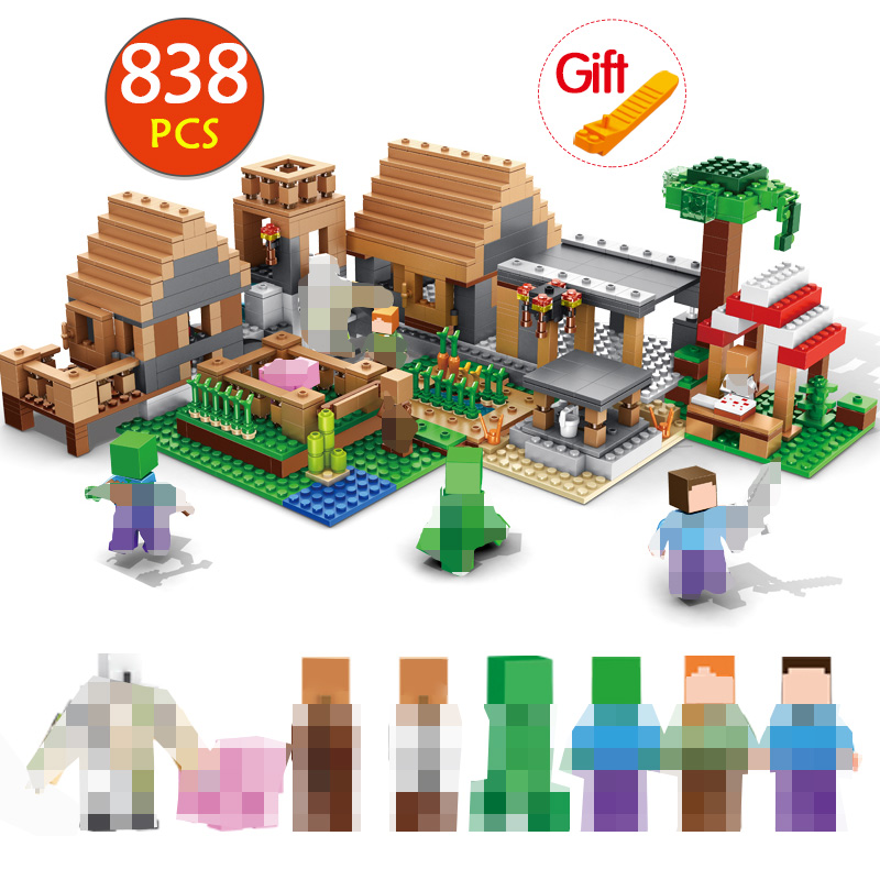 838pcs Castle Village Series My World Ghost Village Building Blocks Compatible With Legoing Minecrafted Bricks Toys For Children