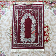 Muslim Products Islam Prayer Rug Chenille Cotton Rugs Printed Rectangle Geometric Mat Knitted Blanket Red Carpet Japanese Futon