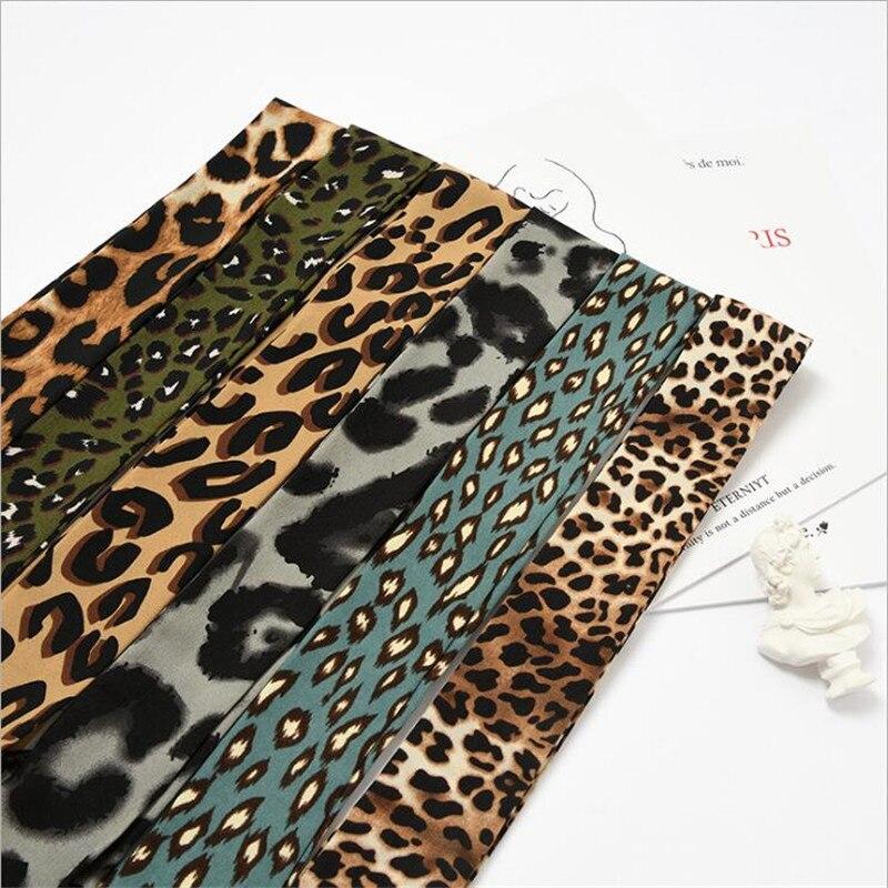 New 90cm Leopard Print Chic Unique Lady Silk Chiffon Riband Scarves Bag Handbag Tie Decorative Scarf Lengthen Ribbon Hair Band