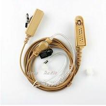 walkie talkie headphone Headset Covert Acoustic Tube Earpiece for two way handheld radio Motorola GP328 GP344 GP388 GP688