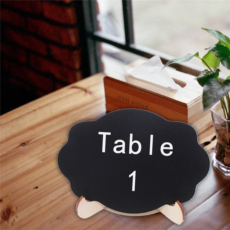 5pcs Lot Cloud shape Wooden mini blackboard Message boardFor Wedding Party Decorations chalkboards