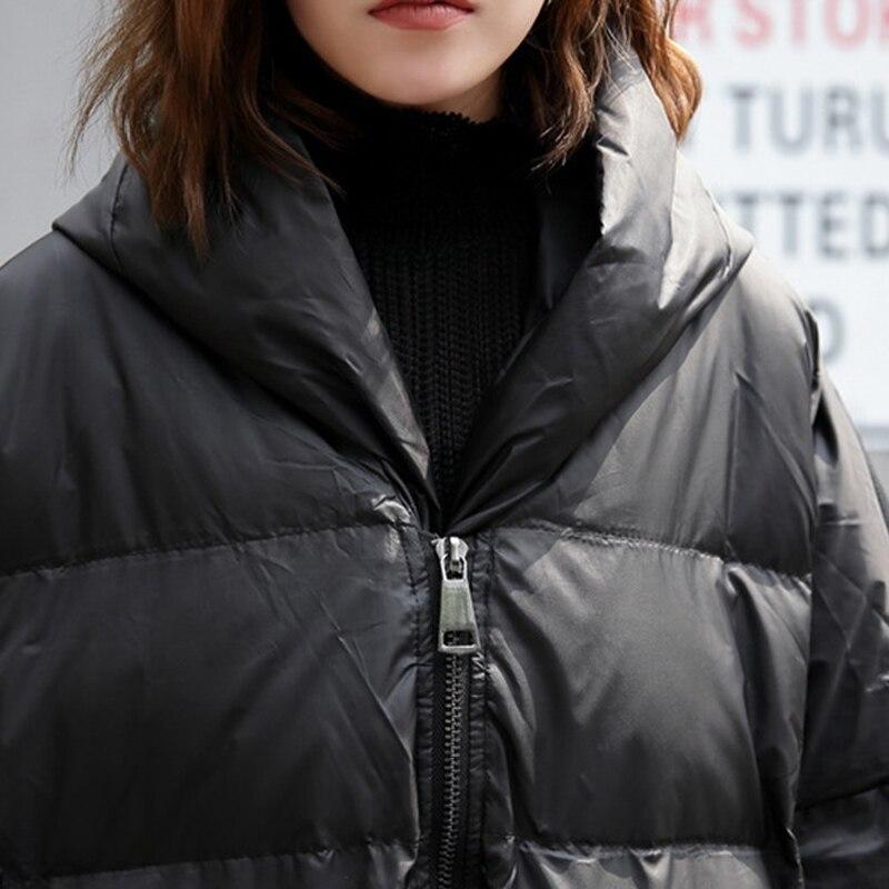 Женская зимняя куртка на подкладке из хлопка с капюшоном в европейском стиле, длинное Свободное пальто большого размера A678, 2019 - 3
