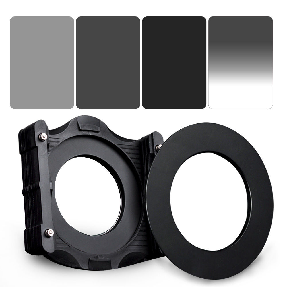 купить ZOMEI 6in1 Filter Kit 77mm Ring + Holder + 150x100mm Gradual ND4 + Full ND2+ND4+ND8 Neutral Density Square ND filter for Cokin Z по цене 4641.51 рублей