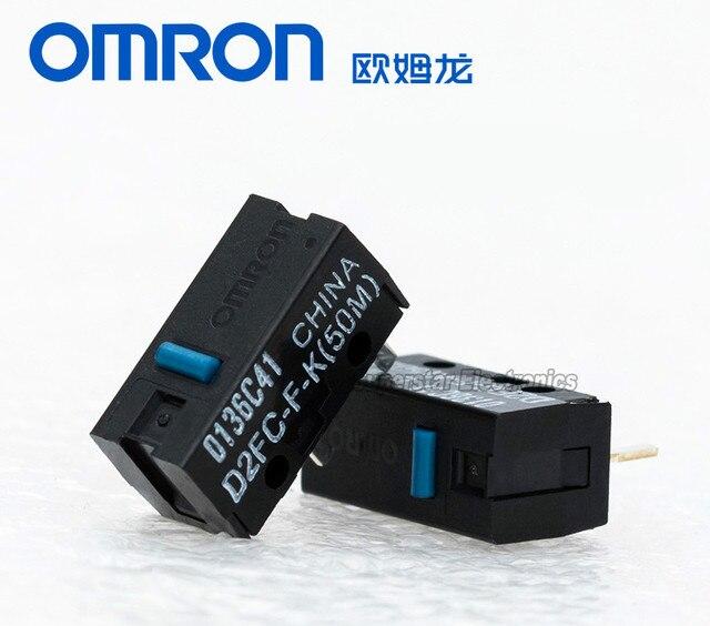 5 sztuk oryginalny nowy styl OMRON myszy mikro przełącznik D2FC-F-K (50 m) niebieska kropka przycisk myszy kompatybilny z D2FC-F-7N 10 m 20 M