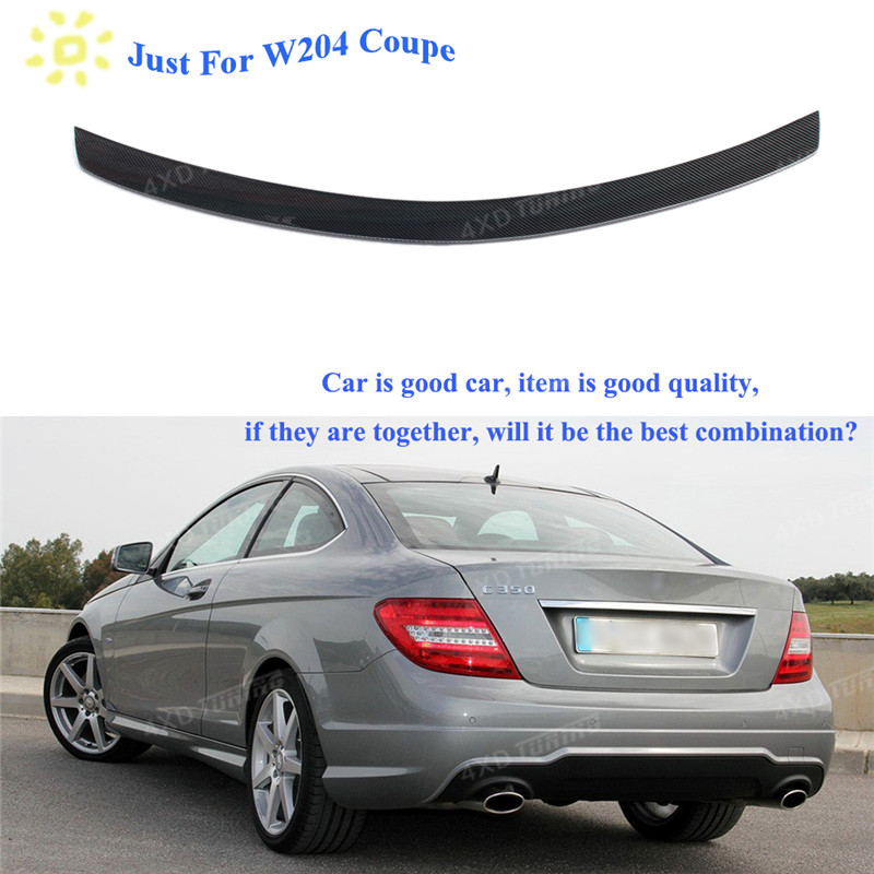 For Mercedes W204 Spoiler AMG Style C Class W204 Carbon Fiber Rear Spoiler Trunk Wing Coupe 2-Door 2008-2010 2011 2012 2013 2014 w204 c180 c200 c260 c300 carbon fiber car rear trunk lip spoiler wing for mercedes benz w204 c63 4 door 2008 2013 amg style