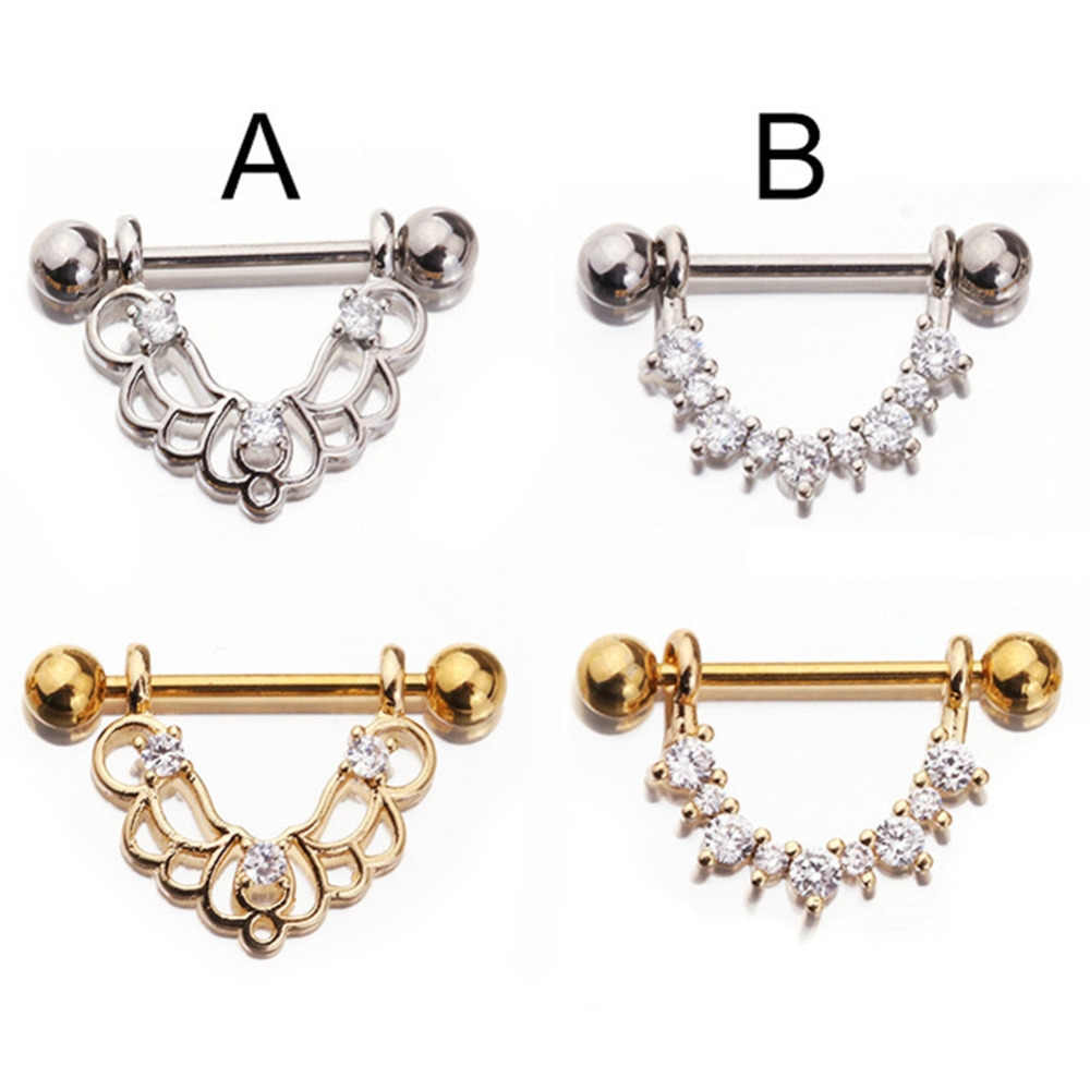... Fashion Stainless Steel Rose Gold Colors U Shaped Oval Water Drop  Silver Sexy Nipple Piercing Women ... e9c1a535bc77