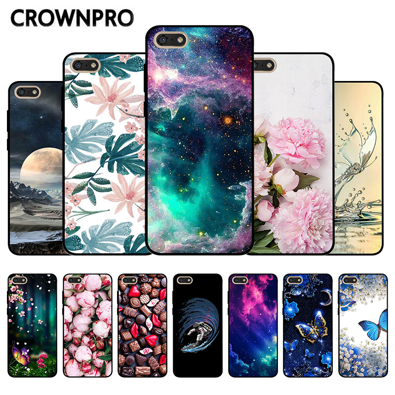 Coque <font><b>For</b></font> <font><b>Huawei</b></font> Y5 2018 Prime TPU Cover Silicone Black <font><b>For</b></font> <font><b>Huawei</b></font> Y 5 Y5 Lite 2018 <font><b>DRA</b></font>-LX5 <font><b>DRA</b></font>-<font><b>LX2</b></font> <font><b>Phone</b></font> Back Case Soft Bag image