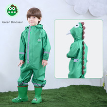90-135CM boys girls raincoat for children,hood waterproof rain coat children jumpsuit rain,students kids poncho