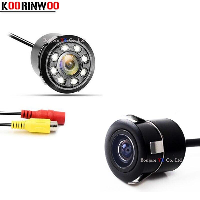 Koorinwoo Auto Estacionamento Câmera Frontal cam Carro Câmera de Visão Traseira Do Carro Luzes reverter back up Sistema de Câmera de Vídeo de Visão Noturna Para O Carro