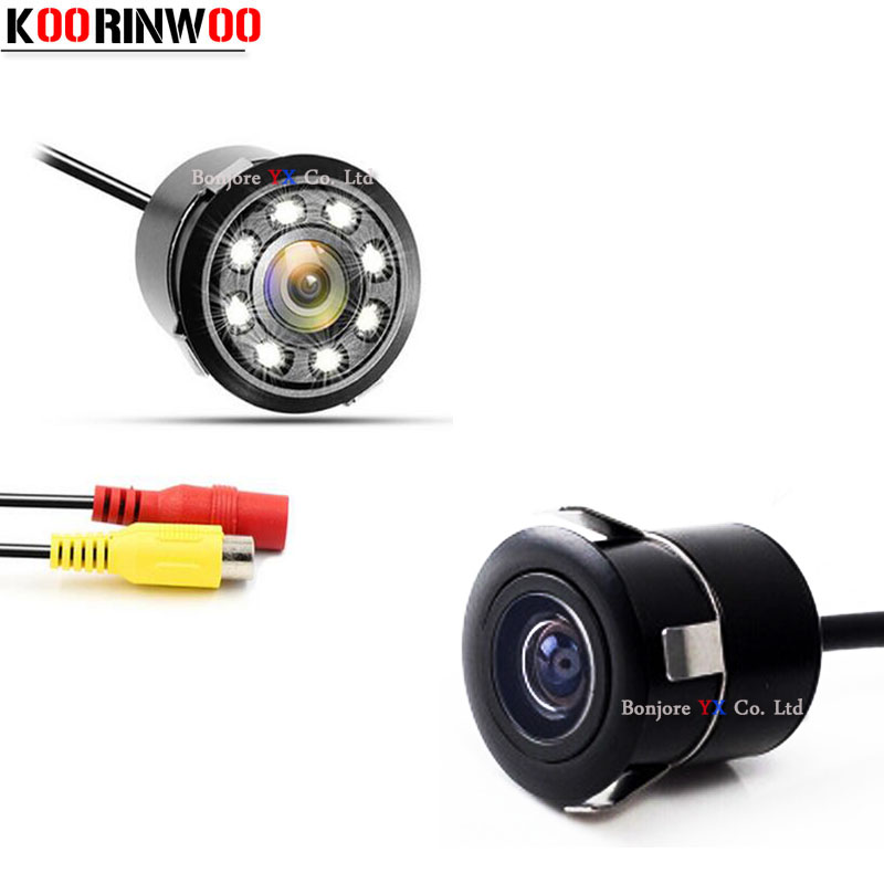 Koorinwoo Auto Parking Camera Front Cam Car Rear View Camera Car Reverse Back Up Camera Video System Night Vision Lights For Car