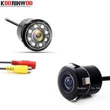 Koorinwoo автоматическая парковочная камера Передняя камера автомобиля заднего вида камера видео система ночного видения огни для автомобиля