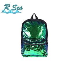 Backpack for Women DIY Sequin Shoulder 2018 New Fashion Oxford Cloth Bag Laser Sequins Flip Casual bag 15inches