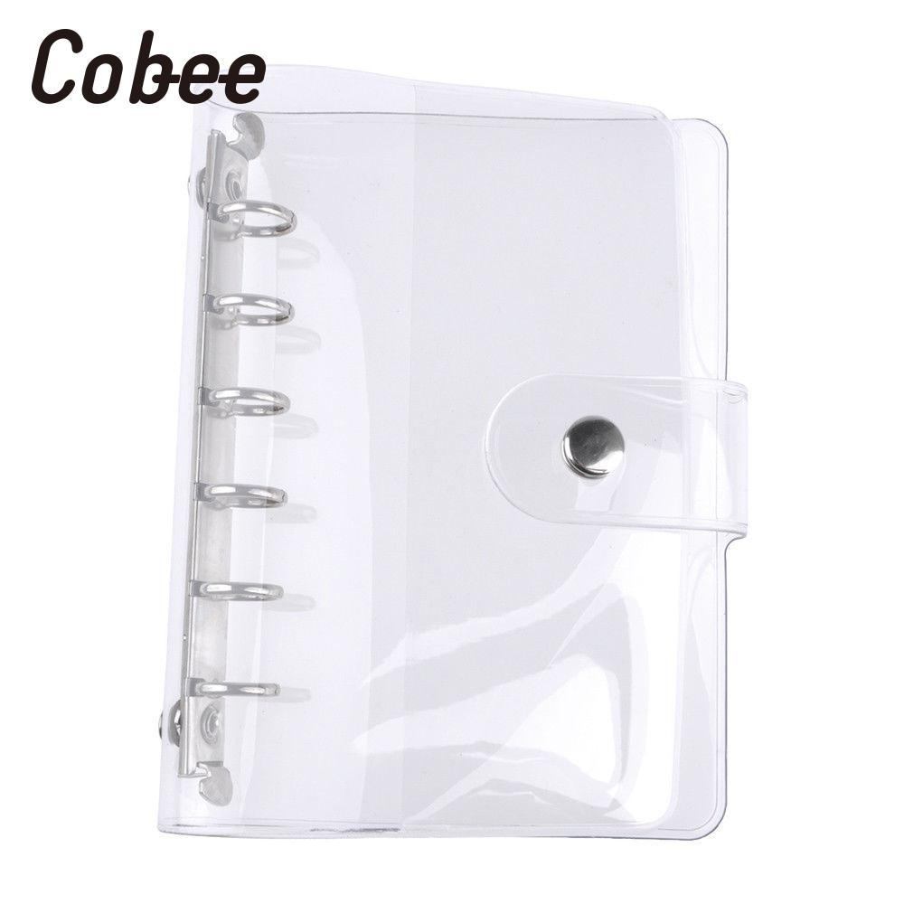 Loose Leaf Cover Ring Binder Cover Notepad Cover Transparent Office Supplies Universal Notebook Partical PVC Stationery