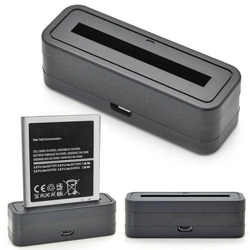 Mini Phone <font><b>Battery</b></font> Charger Dock + Micro USB Cable For <font><b>Samsung</b></font> Galaxy <font><b>Note</b></font> <font><b>4</b></font> 3 2 N9000 S5 i9600 S4 i9500 S4 Mini i9190 S3 i9300