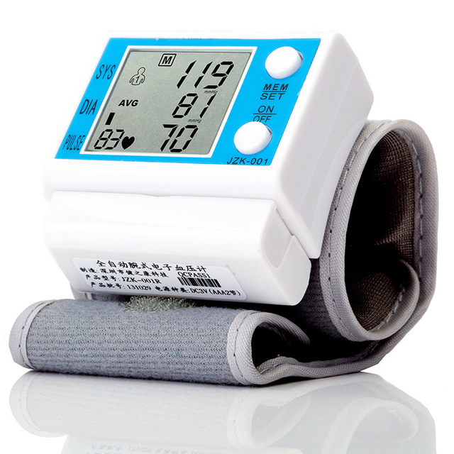 Blood Pressure Gauge Tonometer BP Monitor Digital Wrist Blood Pressure Monitor Heart Beat Rate Pulse Measure Meter