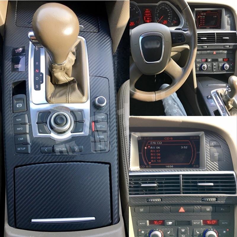 Автомобильный-Стайлинг, новинка, 3D, углеродное волокно, для салона автомобиля, центральная консоль, изменение цвета, молдинг, наклейки, накл...