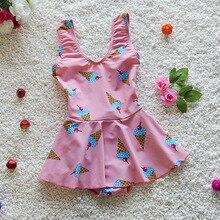 Juniors children's swimwear Girls swimsuit skirt Braces maillot de bain enfant fille,fantasia infantil menina roupa de banho
