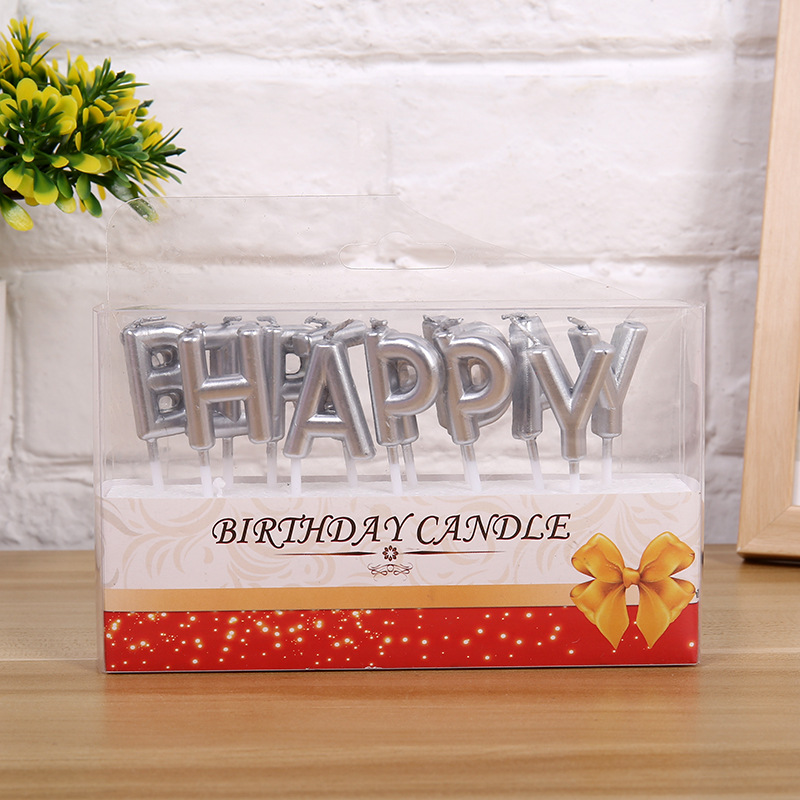 Kitchen Candles Sink 33 X 22 Gold Sliver Party Letter Cake Birthday Festival Supplies For Candle Gift Deco
