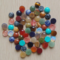 2016 fashion high quality natural mixed round CAB CABOCHON stone beads for jewelry Accessories 12x12mm wholesale 50pcs/lot  free