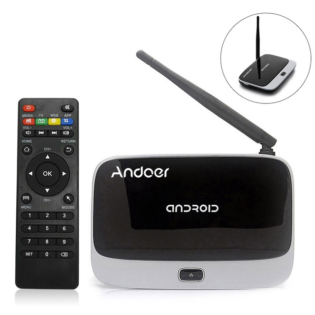 CS 918T 1080P Smart Android 4 4 TV Box Rockchip RK3128 Quad Core 2GB 16GB  H 265 DLNA Airplay WiFi Bluetooth 4 0 TV Set top Box-in Set-top Boxes from
