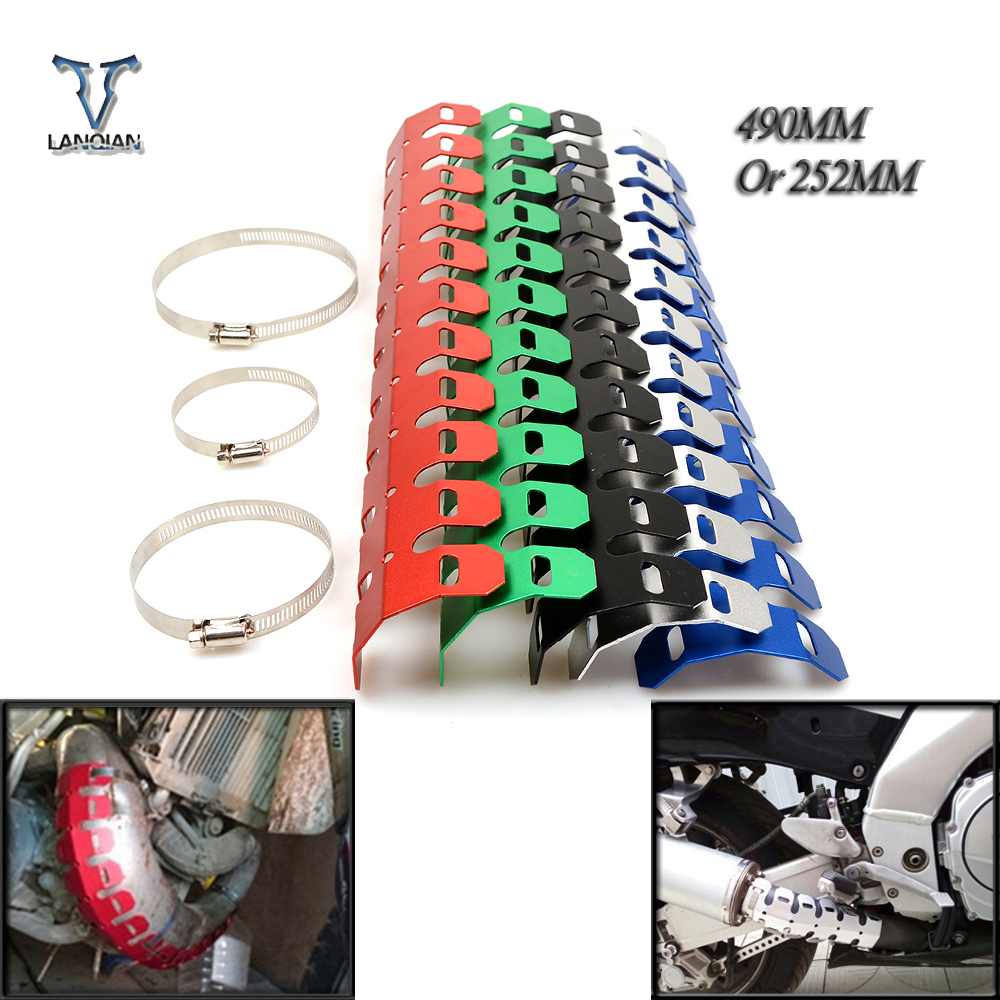 Exhaust & Exhaust Systems Self-Conscious Dirt Bike Exhaust Muffler Pipe Leg Protector Heat Shield Cover For Triumph Daytona 600/650 Sprint Gt Sprint St/rs Automobiles & Motorcycles