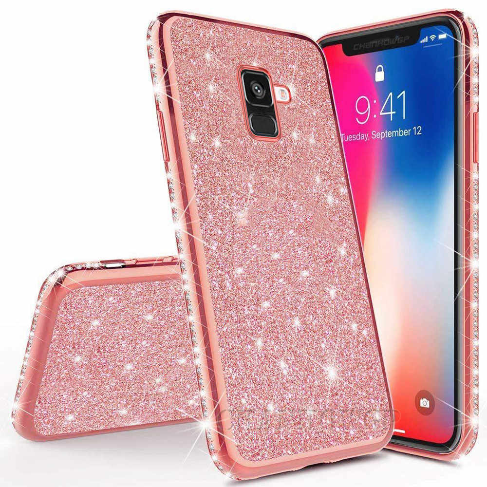 Rhinestone Diamond Silicone Case For S8 S9 S10 Plus A70 A60 A50 A40 A30 A20 A10 M10 M20 M30 A6 A8 Plus A7 2018 Note 8 9 Cover