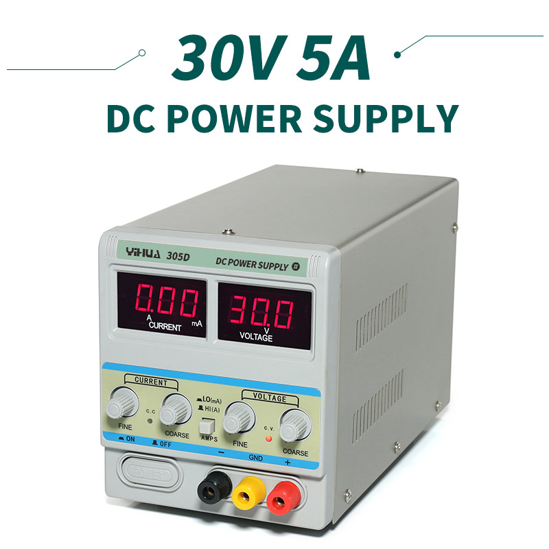 YIHUA 305D Laboratory <font><b>Power</b></font> <font><b>Supply</b></font> <font><b>Adjustable</b></font> Digital Lithium Battery Charging <font><b>30V</b></font> <font><b>5A</b></font> DC <font><b>Supply</b></font> <font><b>Power</b></font> For Laptop Repair Rework image