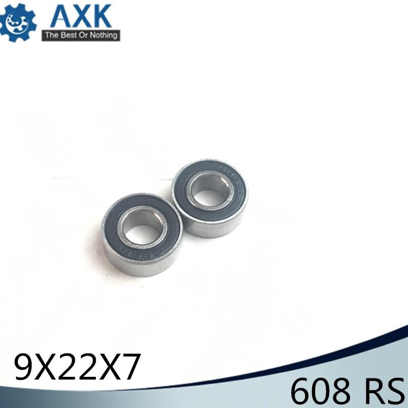 608/9 Bearing ABEC-1 ( 4 PCS ) 9x22x7 mm Miniature 608/9 RS 2RS Ball Bearings 608-9 2RS 608/9RS Bearing608/9 Bearing ABEC-1 ( 4 PCS ) 9x22x7 mm Miniature 608/9 RS 2RS Ball Bearings 608-9 2RS 608/9RS Bearing