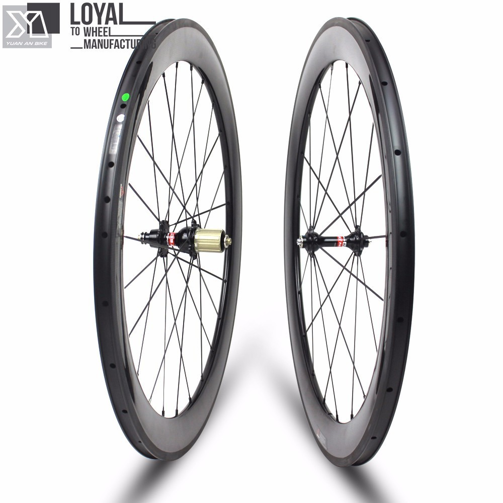 2017 Yuan'an Carbon Road Bike Wheels Wheelsets 25mm Width 60mm Depth Tubeless Ready With Pillar 1432 Spoke And DT SWISS 350s Hub 700c which spoke carbon wheels t700 v sprint carbon wheels 50mm carbon wheel with 20 5mm width d and t350hub