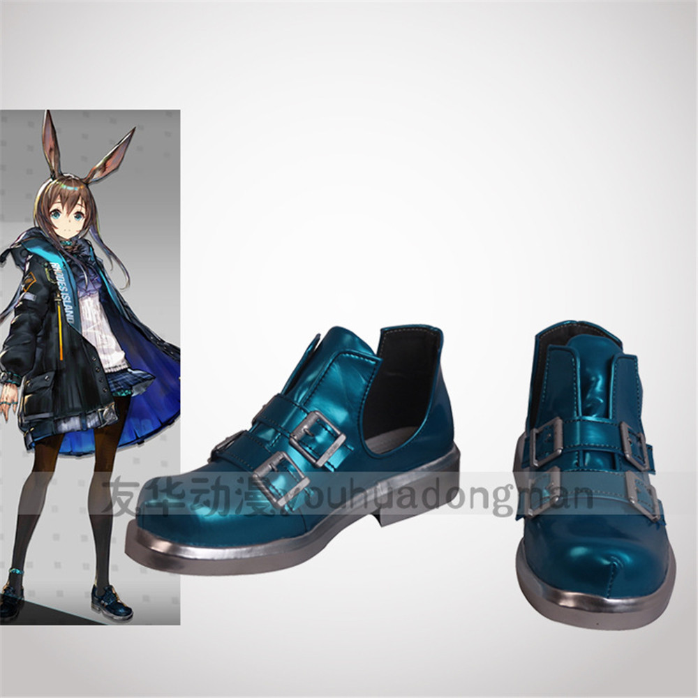 Short-Boots Cosplay Game Arknights Anime Halloween-Props Custom-Made Shoes Amiya Any-Size