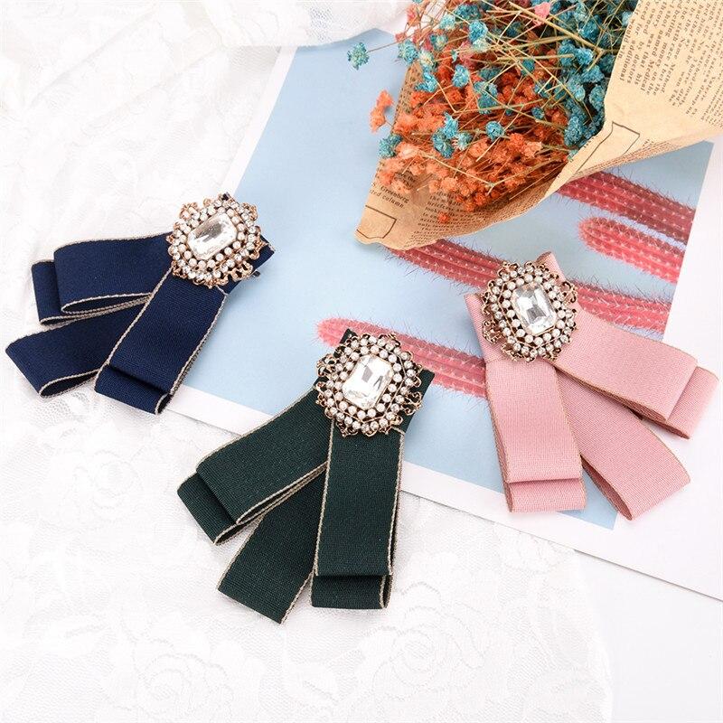 Hot Sale Women Pearl Acrylic Crystal Gravatas Fake Collar Bowtie Noeud Papillon Homme Nep Kraagje Blouse Cloth Bow Tie