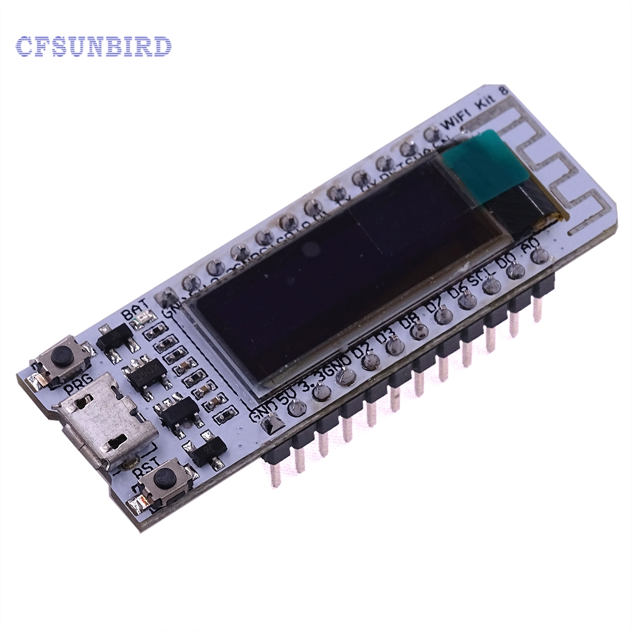 1pcs ESP8266 WIFI Chip 0.91 inch OLED CP2014 32Mb Flash ESP 8266 Module Internet of things Board PCB for NodeMcu for Arduino