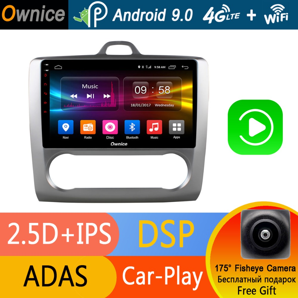 """Android 9.0 Car DVD Player 9"""" IPS Octa 8 Core 4GB RAM+32GB ROM For Ford Focus 2 MK2 2007 2011 MT AT GPS Radio CarPlay DSP ADAS-in Car Multimedia Player from Automobiles & Motorcycles    1"""