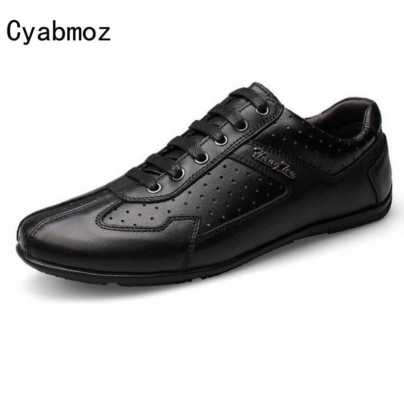 Vintage Hombres Black Negocios Casuales Británicos Coreano Hasta Estilo Conducción Los Transpirables Cuero Genuinos De Zapatos Encaje TPFSfq8