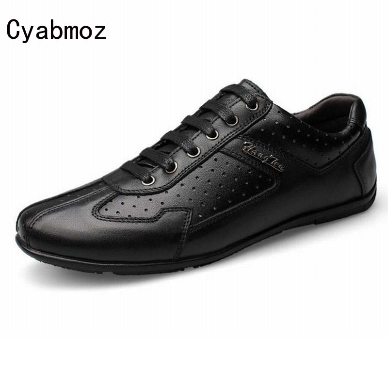 Korean style business casual shoes men's genuine leather shoes british male breathable shoes men vintage lace up driving shoes men s leather shoes new arrival lace up breathable vintage style casual shoes for male footwears zapatos size 38 44 8151m