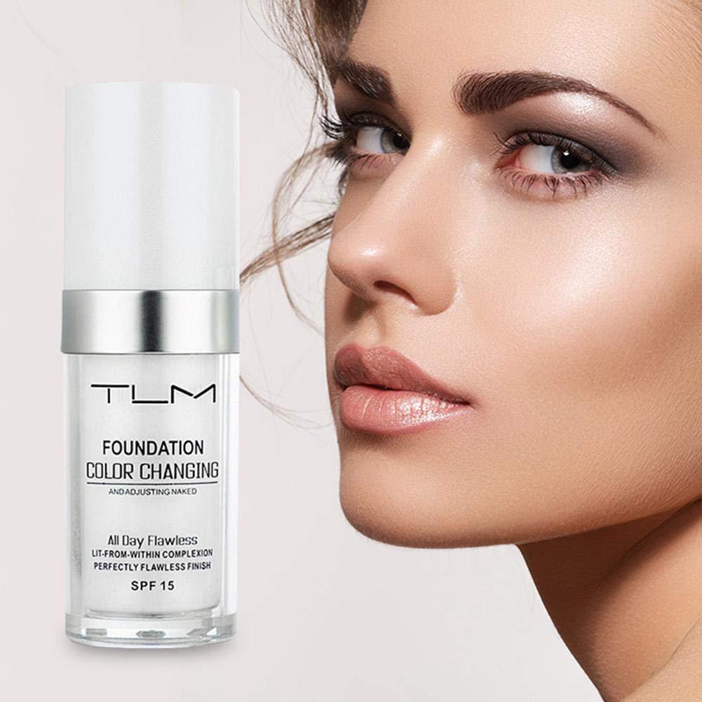 30 ml TLM Farbwechsel Flüssige Foundation Make-Up Ändern, Um Ihre Haut Ton Durch Nur Blending Wasserdicht, lang Anhaltende, Kreative Geschenk