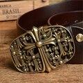 Cinturones de diseñador Hombres de Marca de Alta Calidad de Latón Hebilla de Cuero Genuino Correa de Los Hombres Ceinture Homme Cinturones Mujer Correa Masculina MBT0390