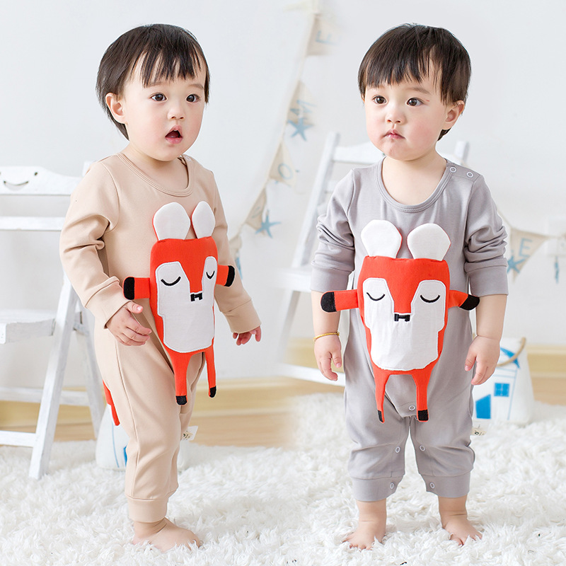 2017 New baby born kids Spring Fox Romper Cotton Newborn Infant Kids Baby Girl Boy long sleeve Romper Jumpsuit Clothes Outfit baby clothing summer infant newborn baby romper short sleeve girl boys jumpsuit new born baby clothes