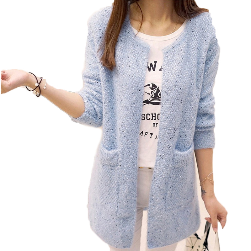 OHRYIYIE . Store OHRYIYIE Long Cardigan Women 2017 Spring Autumn Sweater Women Long Sleeve Knitted Cardigan Female Tricot Lady Clothes Pull Femme