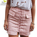 Fashion Womens Autumn Lace-up Leather Suede Pencil Skirt Winter Cross High Waist Mini Skirt Zipper Split Bodycon Short Skirts