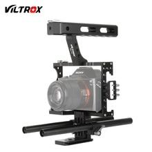 Viltrox 15mm Rod Rig DSLR Kamera Video Käfig Kit Stabilisator + Top Griff für Sony A9 A7II A7RII A7SII A6300 A6500/GH4/EOS M5