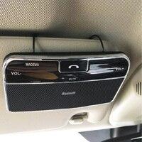 טלפון מכונית אוניברסלי Bluetooth 4.0 ידיים רמקול Bluetooth לרכב רמקול מתאם 3.5 מ