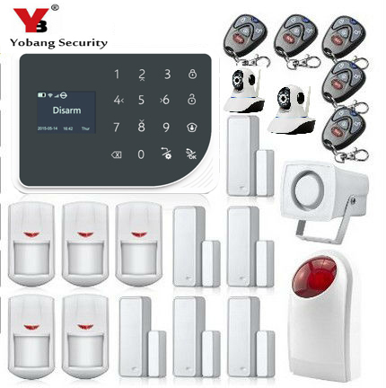 Yobang Security Wireless WiFi GSM Alarm System Android ios APP Control home Security Alarm System with Wireless Strobe siren
